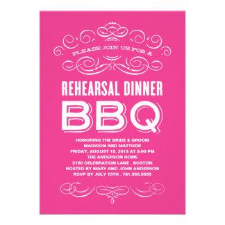 VINTAGE BBQ REHEARSAL DINNER BBQ CARD