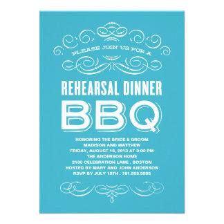 VINTAGE BBQ REHEARSAL DINNER BBQ ANNOUNCEMENTS