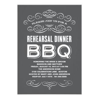 VINTAGE BBQ REHEARSAL DINNER BBQ INVITES