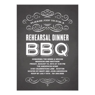 VINTAGE BBQ | REHEARSAL DINNER BBQ PERSONALIZED INVITATION