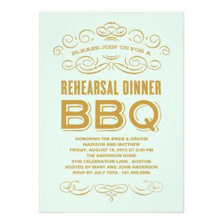 VINTAGE BBQ REHEARSAL DINNER BBQ INVITE