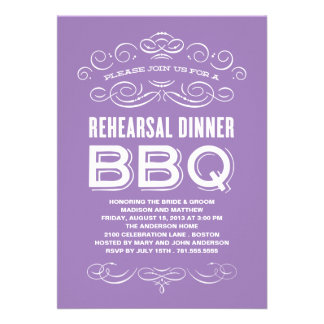VINTAGE BBQ | REHEARSAL DINNER BBQ PERSONALIZED INVITES