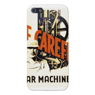 Vintage Be Careful Near Machinery WPA Poster iPhone 5/5S Cases