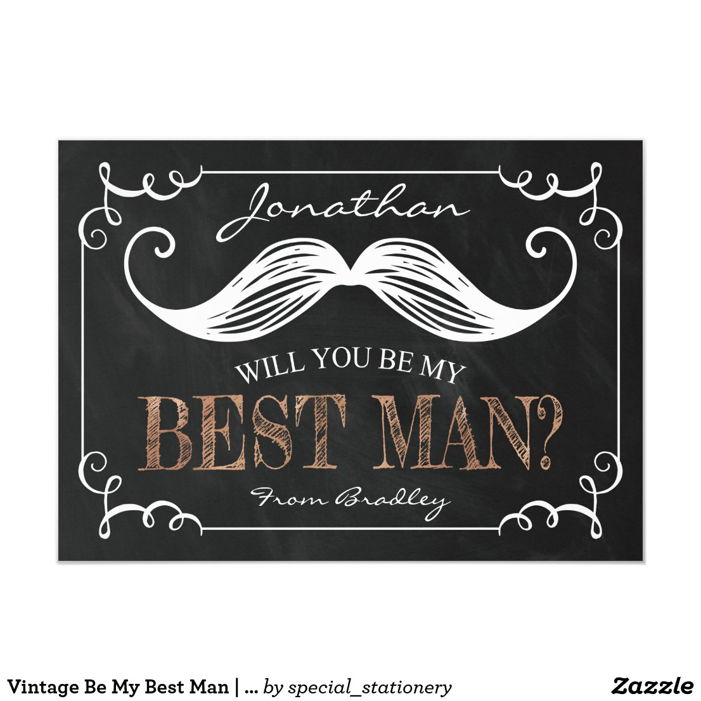 VINTAGE BE MY BEST MAN | GROOMSMEN CARD