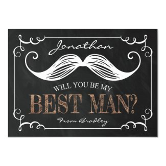 VINTAGE BE MY BEST MAN | GROOMSMEN CARD