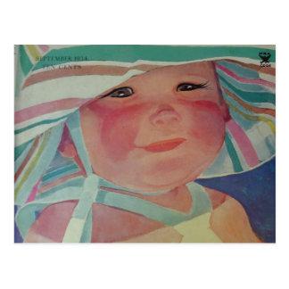 Vintage Beach Baby 1934 Postcard