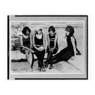 Vintage Beach Beauties Photo Postcard