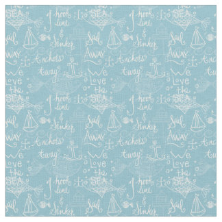 Vintage Beach Cottage Style Fabric