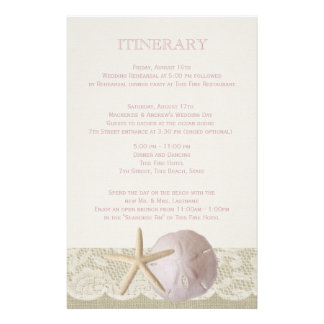 Vintage Beach Itinerary Personalised Stationery