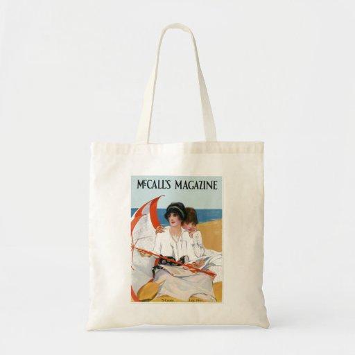 Vintage Beach Magazine Cover Bag