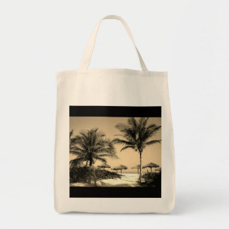 Vintage Beach Photo Grocery Bag