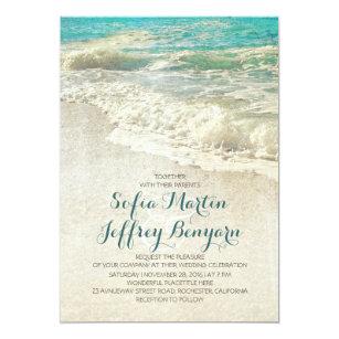 beach wedding invitations zazzle co uk