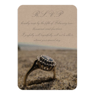 Vintage Beach Wedding R.S.V.P Card