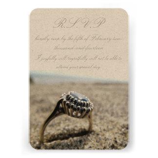 Vintage Beach Wedding R S V P Custom Invite