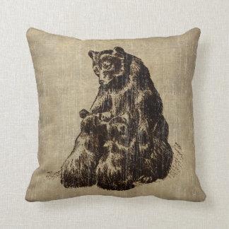 Vintage Bear Family Cushion