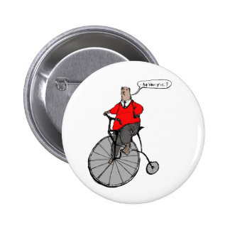 Vintage Bear on Penny Farthing cycle 6 Cm Round Badge