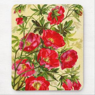 Vintage Beauties Floral Mousepad