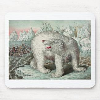 Vintage beautiful bear tapete de raton
