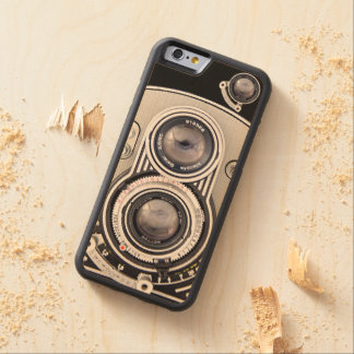 Vintage beautiful camera carved maple iPhone 6 bumper case