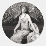 Vintage Beautiful Decorated Dancer Classic Round Sticker