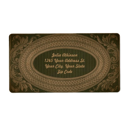 vintage beautiful elegant address label