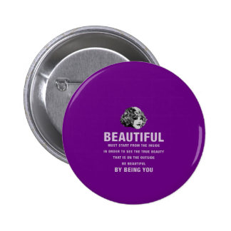 Vintage Beautiful Must Start Purple 6 Cm Round Badge