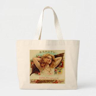 Vintage Beauty Ad Jumbo Tote Bag