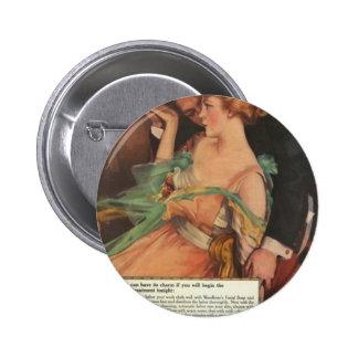 Vintage Beauty Ads Buttons