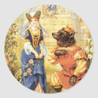 Vintage Beauty and the Beast Fairy Tale Stickers