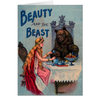Vintage Beauty and the Beast Greeting Card