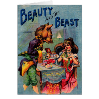 Vintage Beauty and the Beast Greeting Cards