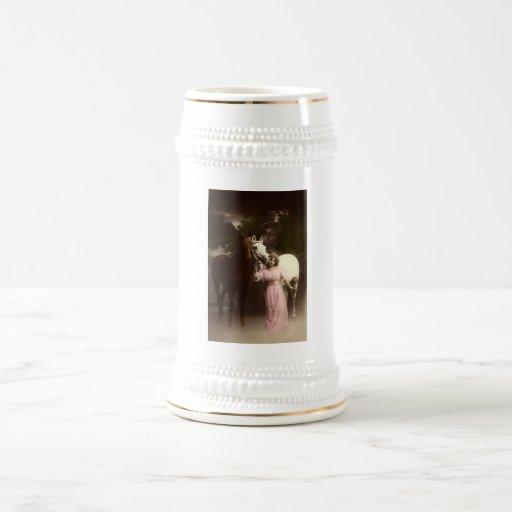 Vintage *Beauty and the Horses* Coffee Mug