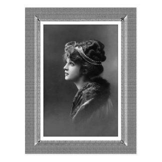 Vintage Beauty - Hope - in black & white Postcard