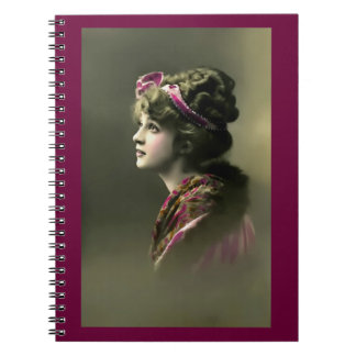 Vintage Beauty II Spiral Notebook