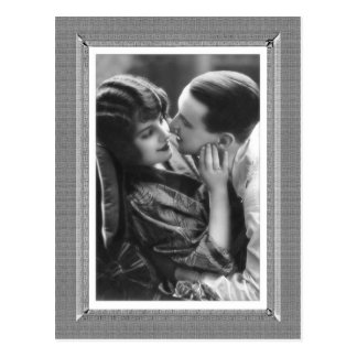 Vintage Beauty - Passion - in black & white Postcard