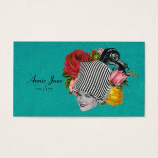 Vintage Beauty Shop Shabby Roses Stylist Card