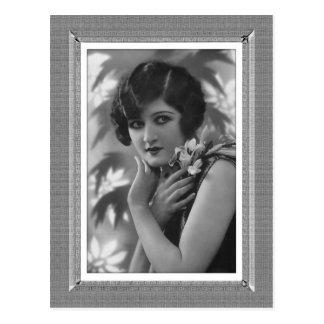 Vintage Beauty - Those Eyes - in black & white Postcard