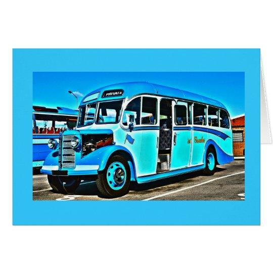 Vintage Bedford Bus Card