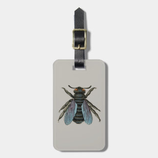 vintage bee bag tag