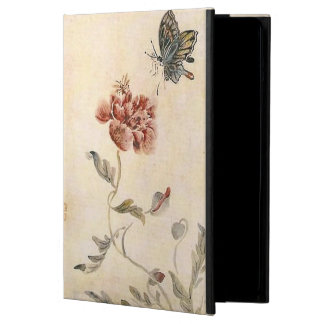 Vintage Bee, Butterfly and Poppy Watercolor iPad Air Case