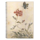 Vintage Bee, Butterfly and Poppy Watercolor Notebook