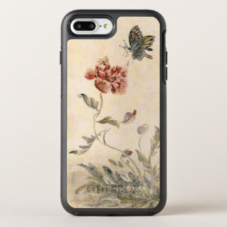 Vintage Bee, Butterfly and Poppy Watercolor OtterBox Symmetry iPhone 8 Plus/7 Plus Case