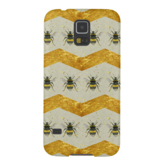 Vintage Bee & Gold Chevron Samsung Galaxy S5 Case