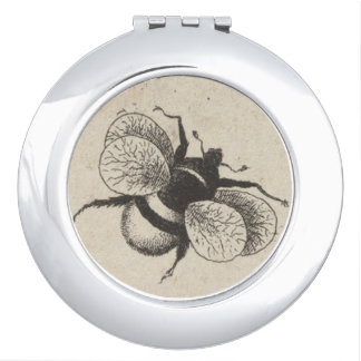 Vintage Bee Nature Insect Compact Mirrors