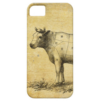 vintage beef chart with numbered cuts case for the iPhone 5