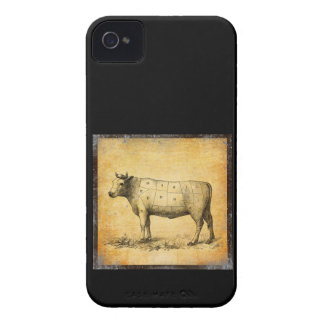 vintage beef chart with numbered cuts iPhone 4 case