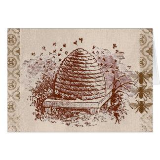 Vintage Beehive Beekeeping Card