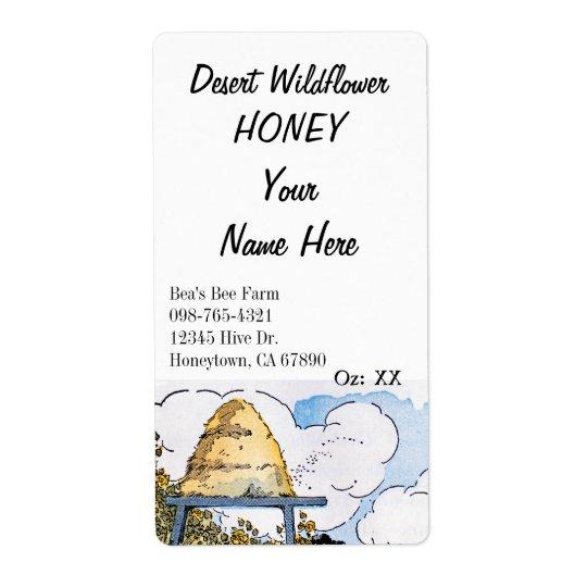 Vintage Beehive Custom Honey Canning Labels