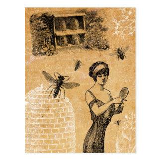 Vintage Beehive Postcard