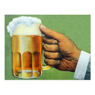 Vintage Beer Bier Frosty Mug Postcard